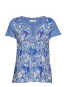 Blossom Boss Top T-Shirt Top Blau ODD MOLLY