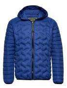 Down Radar Mix Quilt Jacket Steppjacke Blau SUPERDRY