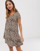 Brave Soul – Ausgestelltes Kleid mit Leopardenfellmuster-Mehrfarbig